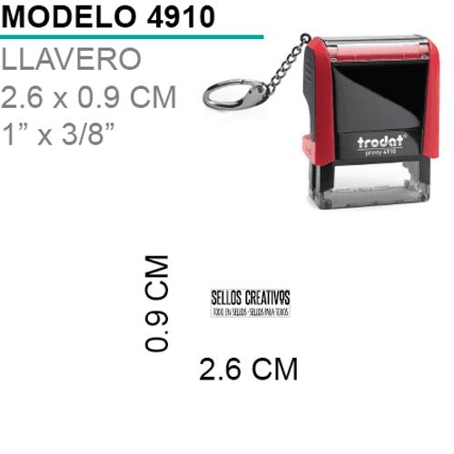 Sello-Autoentintable-4910-Llavero-Negro