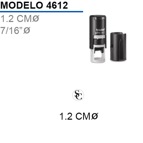 Sello-Autoentintable-Printy-4612-Negro