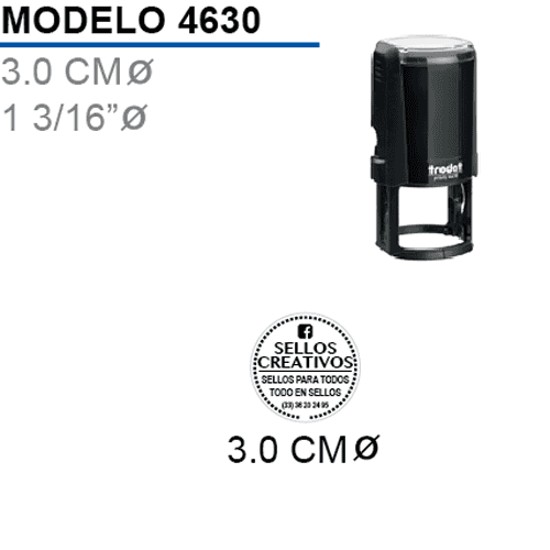 Sello-Autoentintable-Printy-4630-Negro