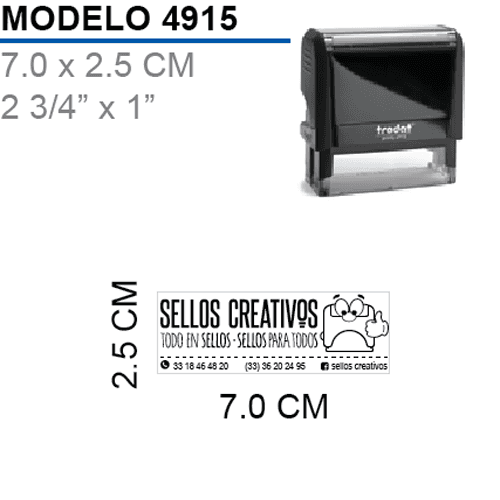 Sello-Autoentintable-Printy-4915-Negro