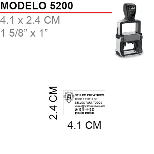 Sello-Autoentintable-Trodat 5200-Negro