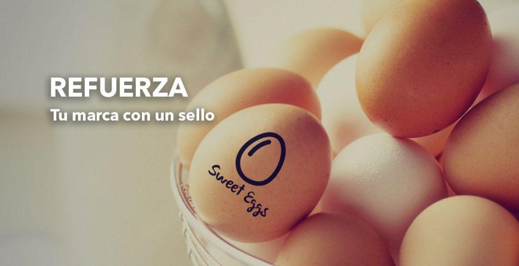 sellos para marcar huevos con tinta alimenticia